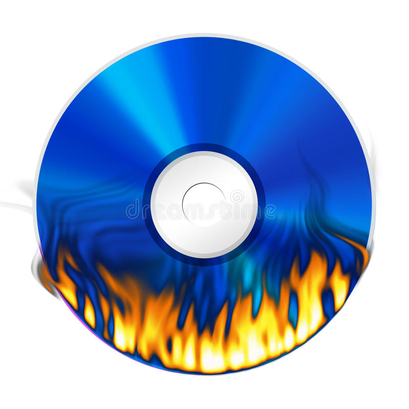 Download Burning DVD On White Background Royalty Free Stock Photography - Image: 21531297