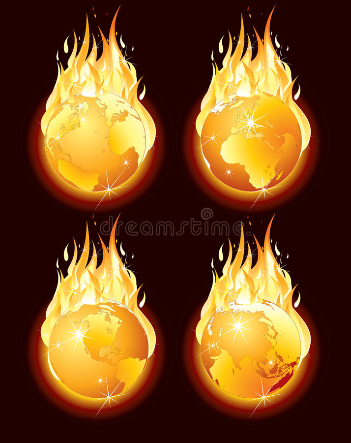 Download Burning earth stock vector. Illustration of catastrophe - 14524933