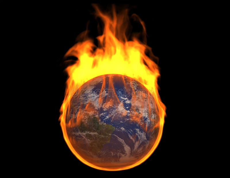 Download Burning Earth stock illustration. Illustration of concepts - 16793749