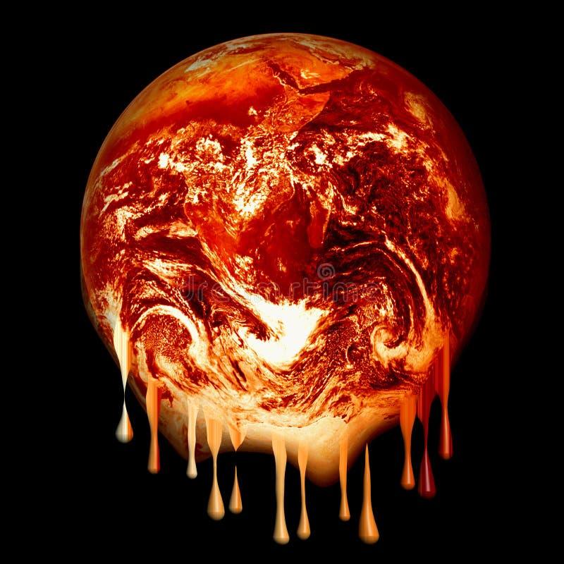 Download Burning earth melting stock illustration. Illustration of futuristic - 5359112