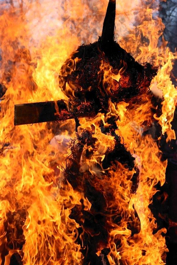 burning effigy royaltyfri foto
