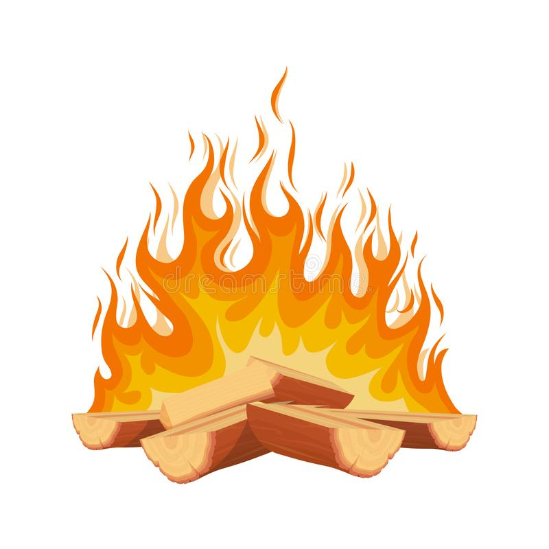 Free Burning Fire. Campfire. Firewood Logs In Fire. Wood Camp Fire. Stock Photos - 156467423