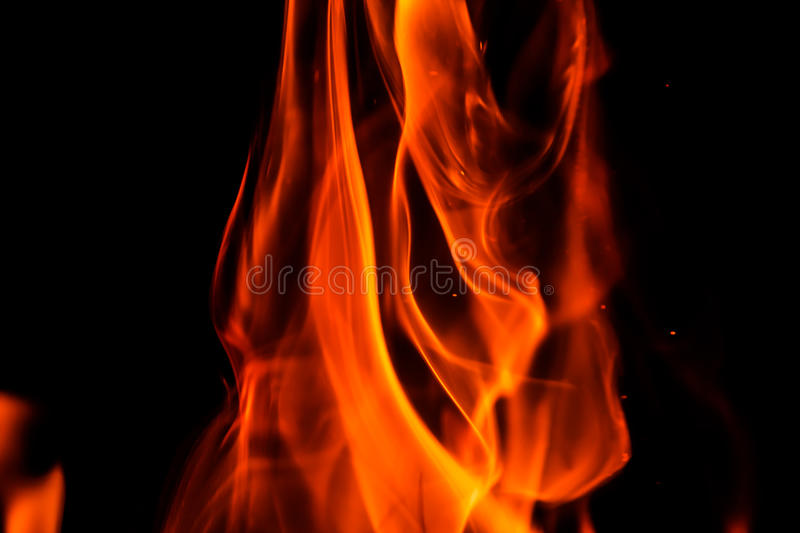Burning flame stock photos