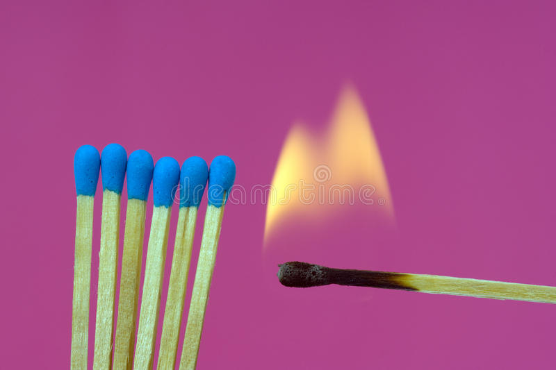 Download Burning Flame  Matchstick stock photo. Image of candle - 12393004