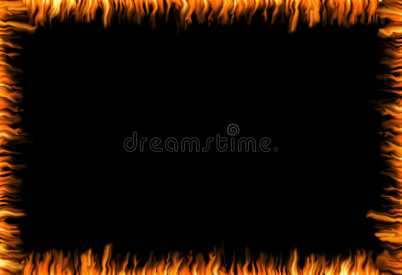 Burning frame royalty free illustration