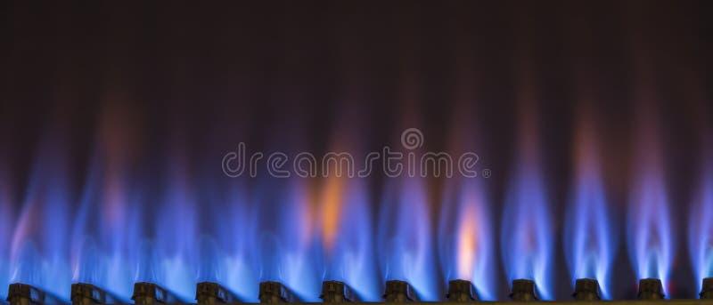 burning gas arkivbild
