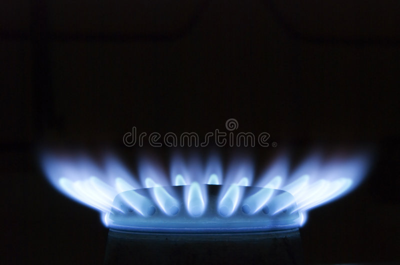 Download Burning Gas Oven In Kitchen Stock Image - Image: 3584869