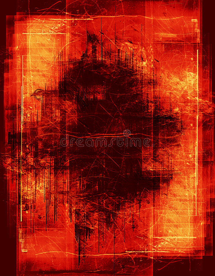 burning grunge för kant royaltyfri foto