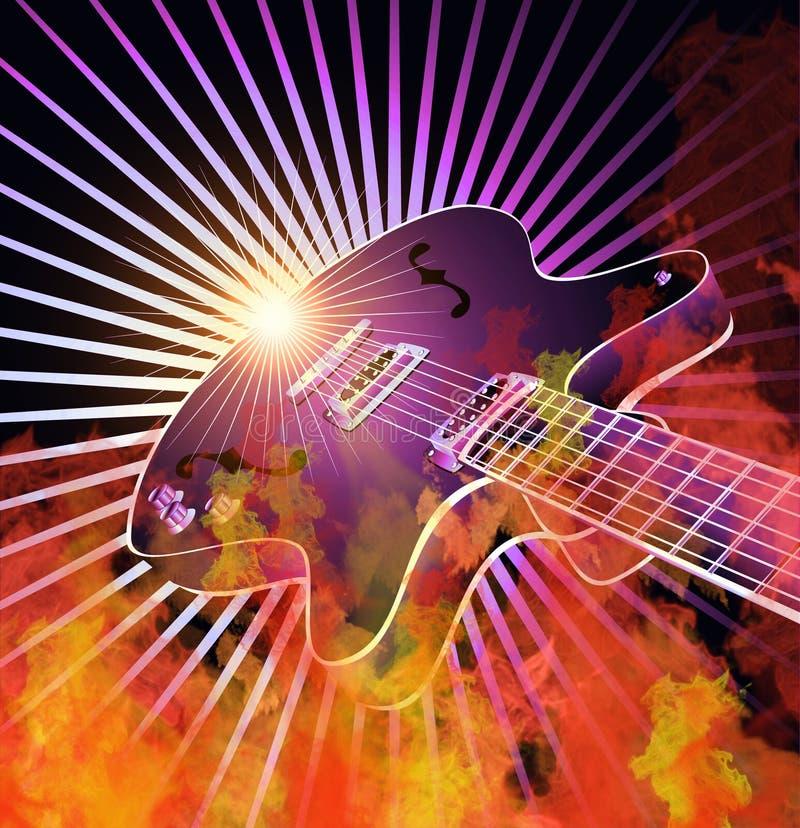 Burning Guitar stock photos