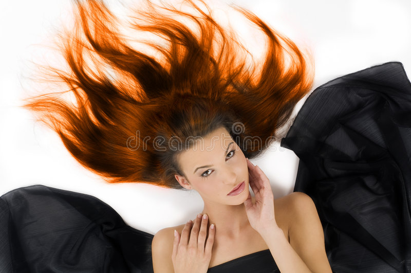 Burning hair royalty free stock photo