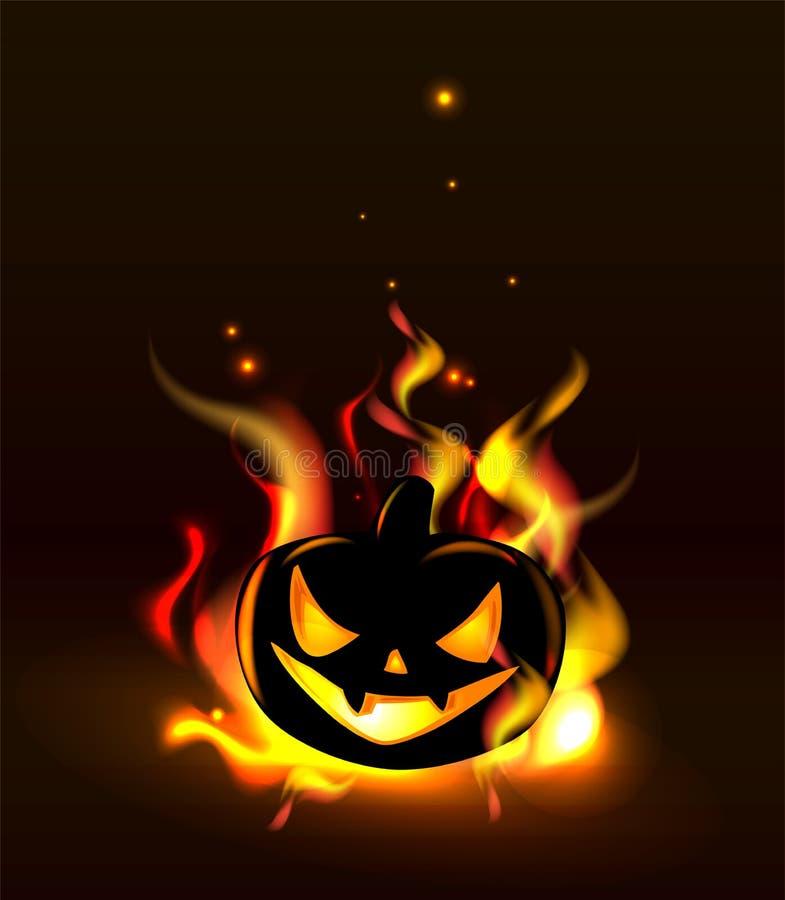 Free Burning Halloween Lantern Stock Image - 59132171