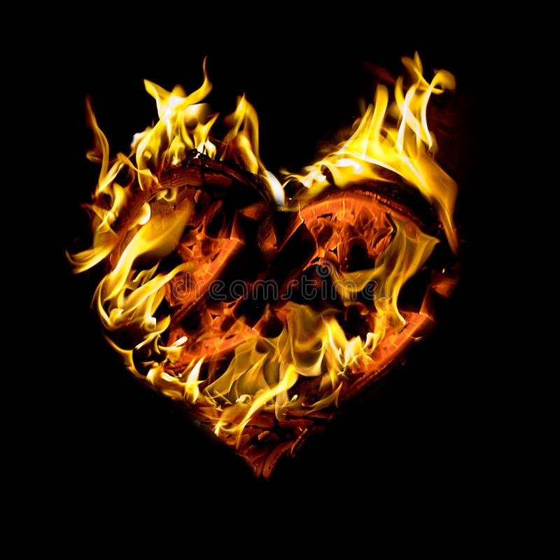 Download Burning Heart Stock Photo - Image: 12775090