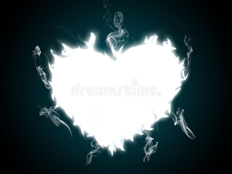 Burning heart. A burning heart pattern in black and white stock images