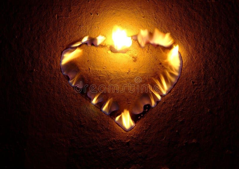 burning hjärta arkivfoton