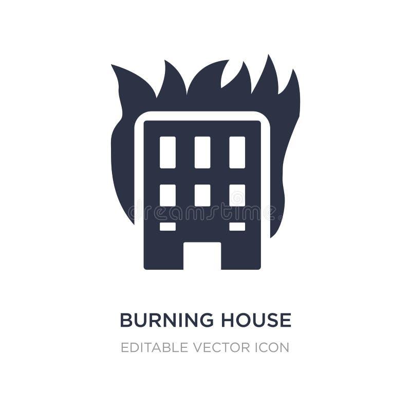 Burning house icon on white background. Simple element illustration from Buildings concept. Burning house icon symbol design royalty free illustration