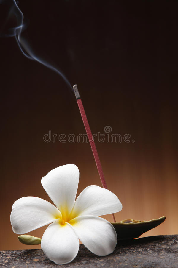Free Burning Incense Stick And Tray Stock Photo - 48878350
