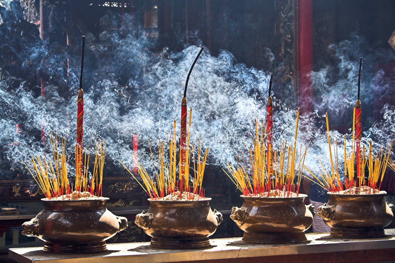 Burning Incenses Royalty Free Stock Photos