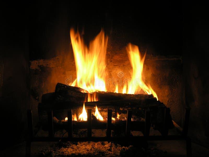 Burning Logs stock photo