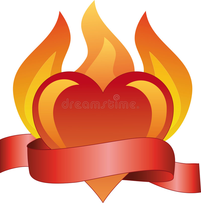 Download Burning love stock vector. Illustration of banner, greeting - 2700422