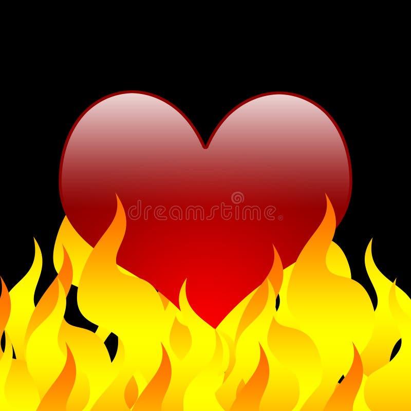 Download Burning love heart stock illustration. Image of empty - 4035494