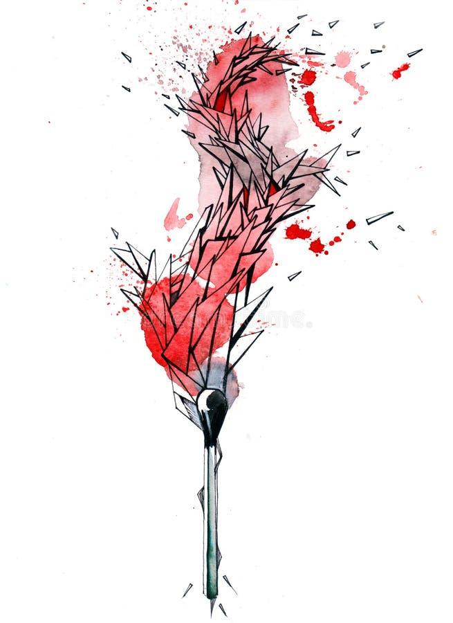 burning match vektor illustrationer