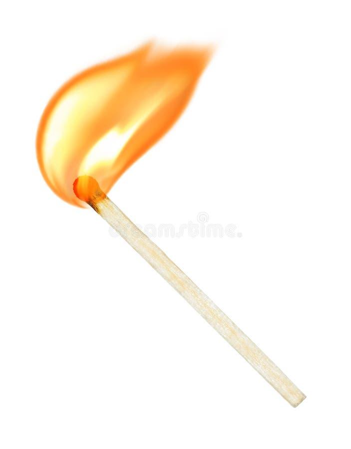 Burning match royalty free stock image