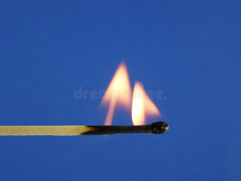 Download Burning match stock image. Image of stick, yellow, brown - 3207035