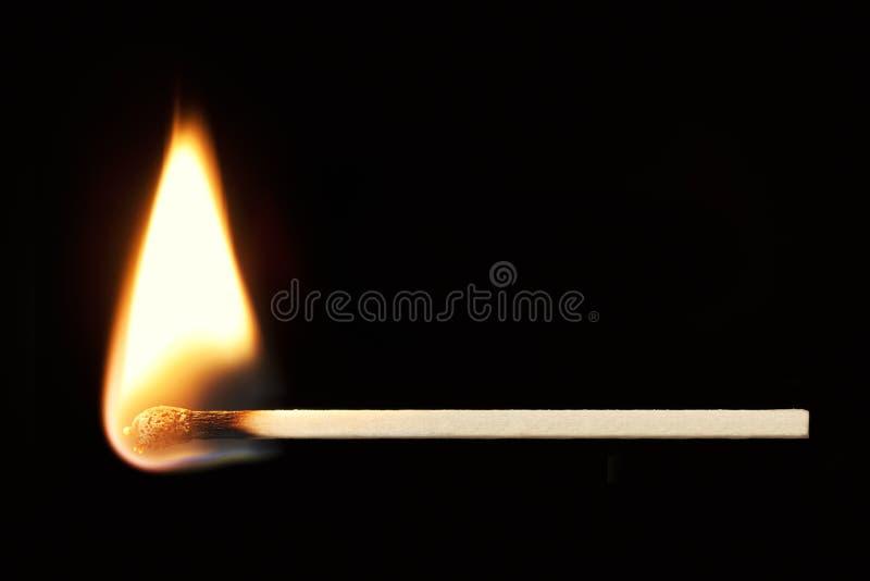 Download Burning Match Horizontal Over Black Stock Photo - Image: 24571834