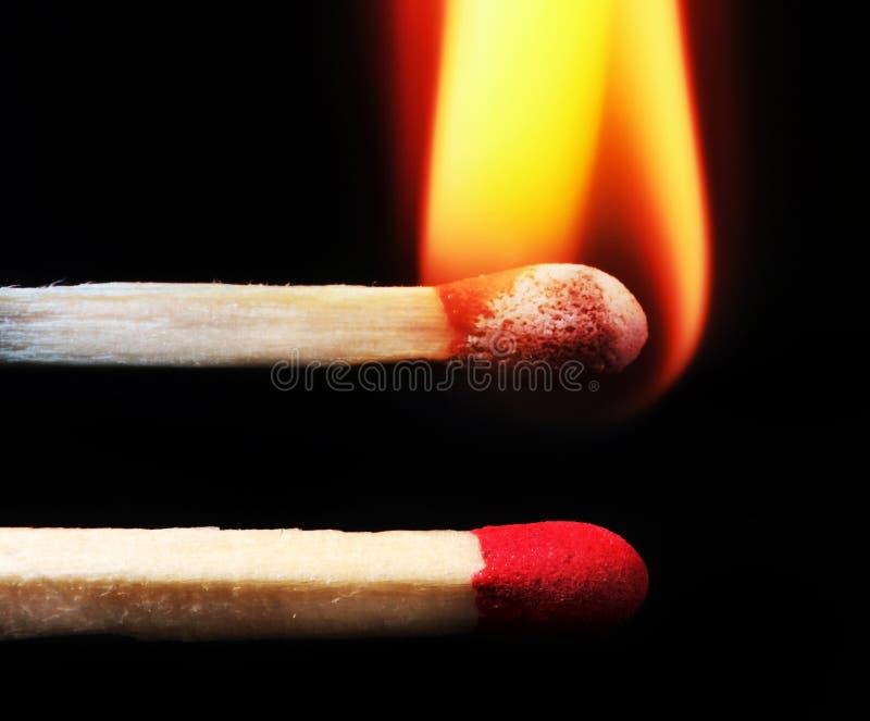Burning matches royalty free stock photo