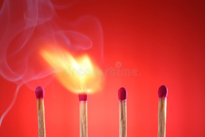 Burning Matches royalty free stock photography