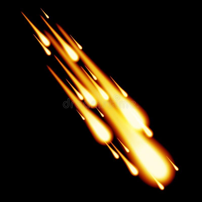 Burning meteor royaltyfri illustrationer