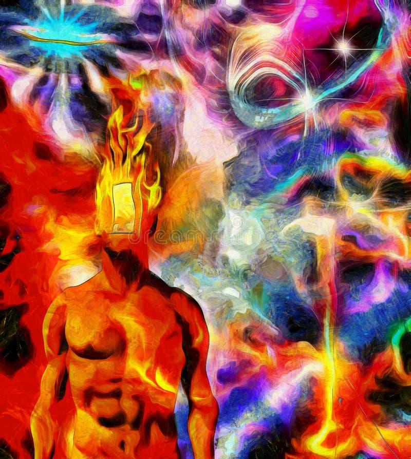 Burning mind royalty free stock photo