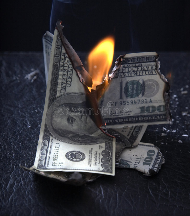 Download Burning of money stock image. Image of fire, business - 6574921