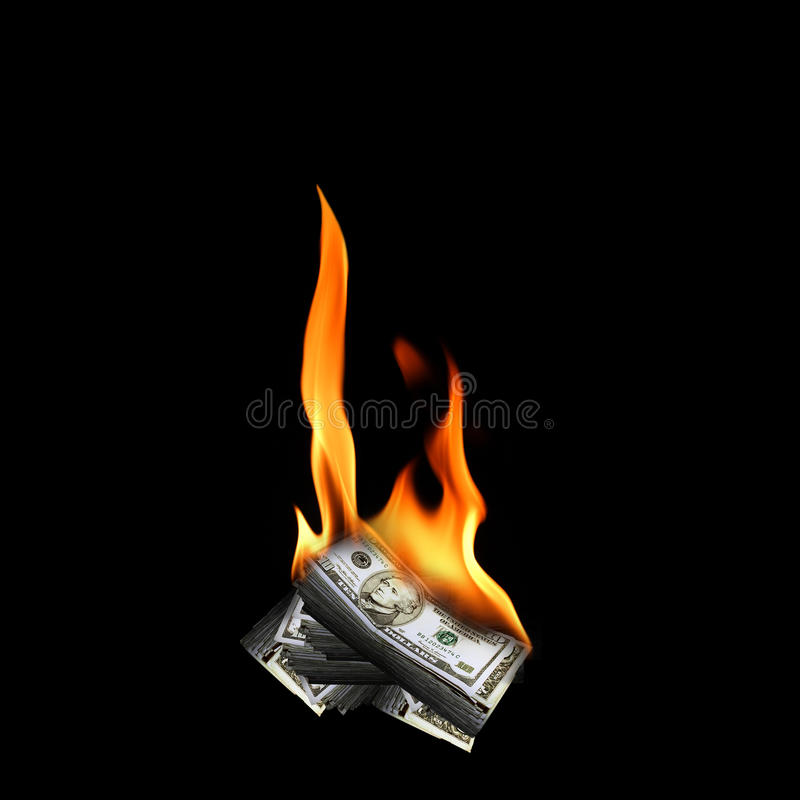 Free Burning Money Stock Photo - 75767920
