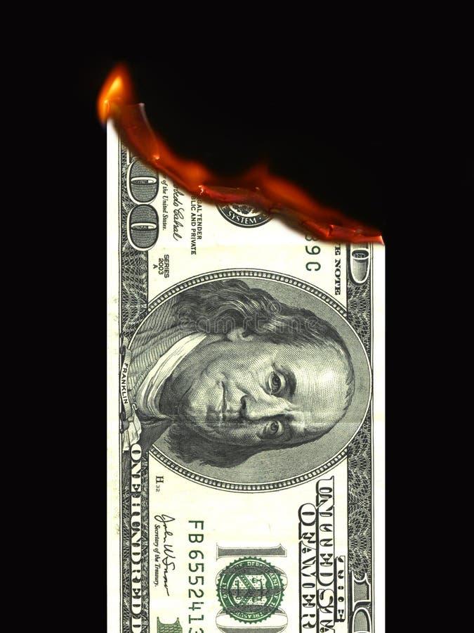 Free Burning Money Royalty Free Stock Image - 7980646
