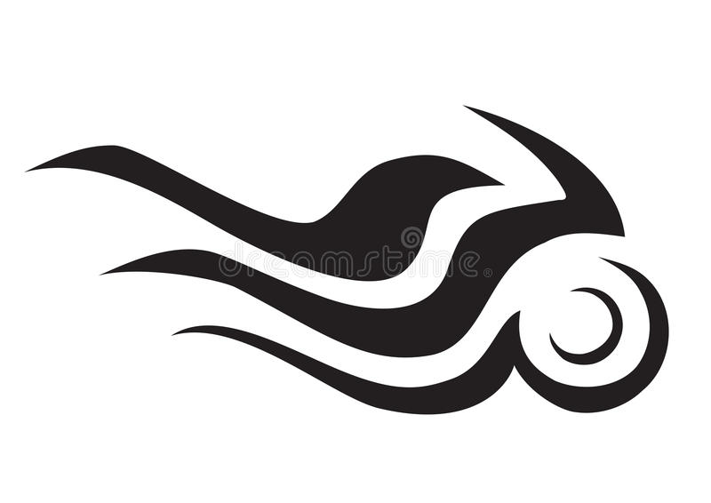 Burning motorcycle symbol stock illustration
