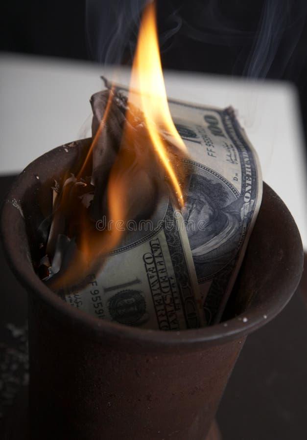 Free Burning Of Money Stock Photography - 10921862