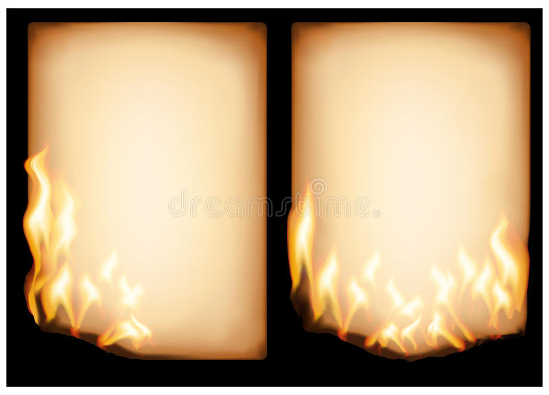 Burning old paper. The vector image of burning old paper (eps 10 royalty free illustration
