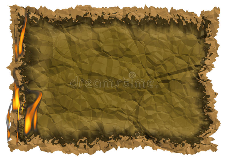 Burning paper. Illustration of burning paper abstract background vector illustration