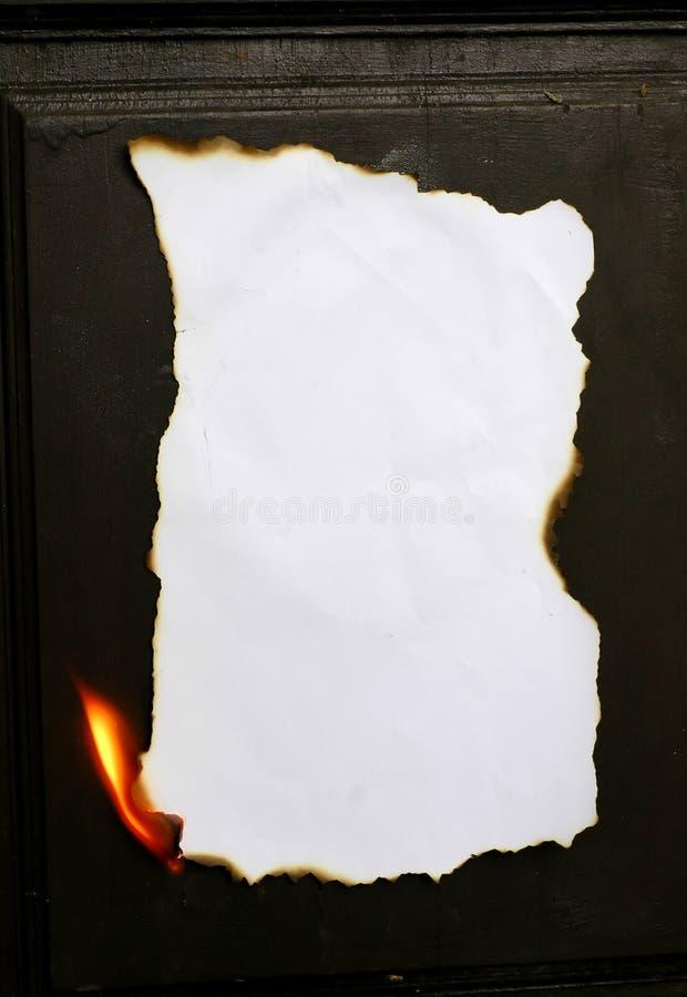 Burning paper royalty free stock photo