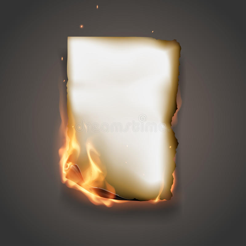 Burning paper vector illustration