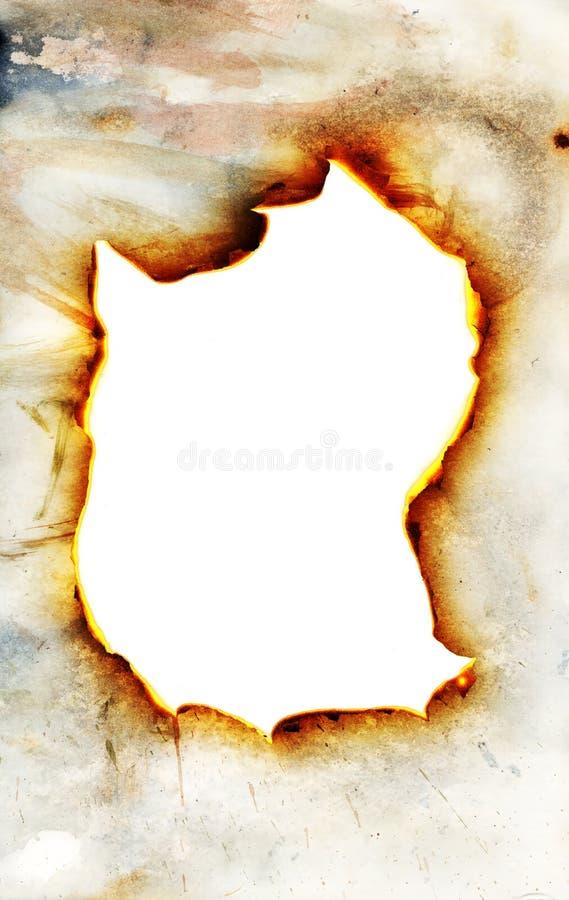 burning papper though royaltyfri foto