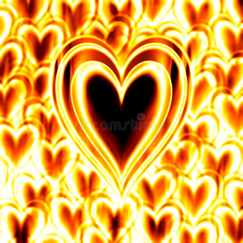 Download Burning passion heart fire stock illustration. Illustration of flames - 3789474