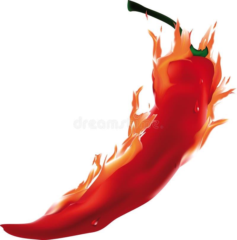 Burning pepper royalty free illustration