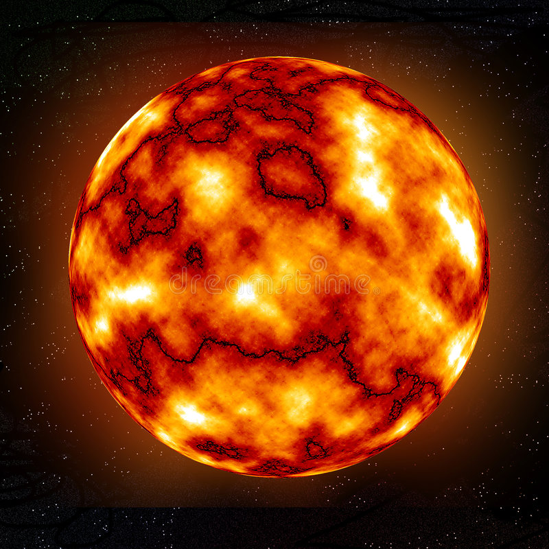 Burning Planet. [sun] illustration done with photoshop stock illustration