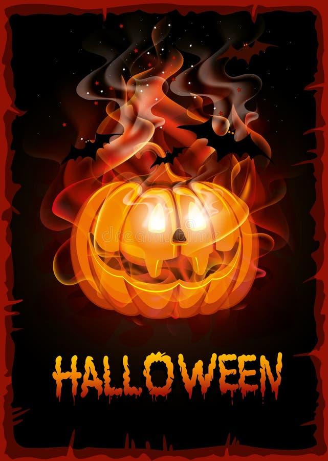 Burning pumpkin royalty free illustration