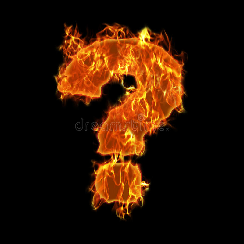 Free Burning Question Mark Stock Images - 13781654