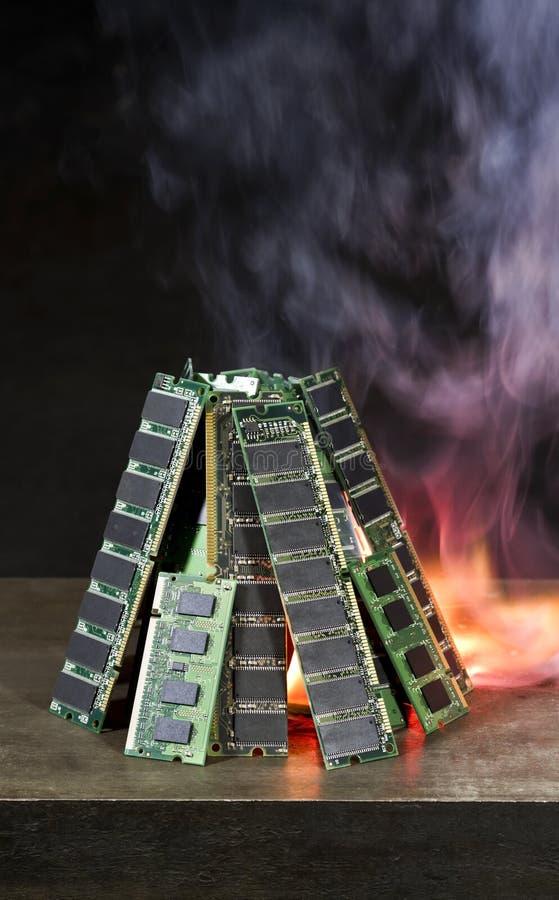 Download Burning Random Access Memory Stock Image - Image: 21269981