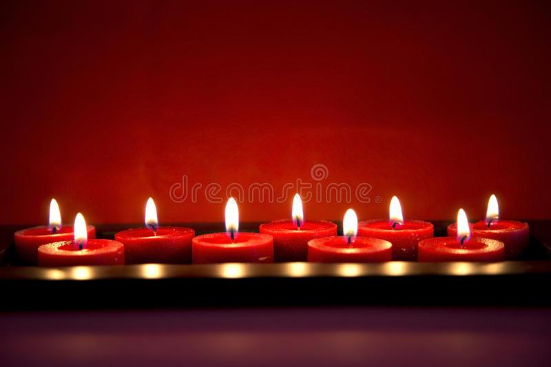 Download Burning red candles stock image. Image of hope, candlelight - 39376705