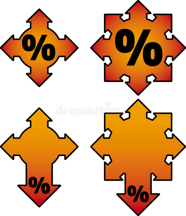 Download Burning sale. Vector stock vector. Image of sticker, arrow - 18381451